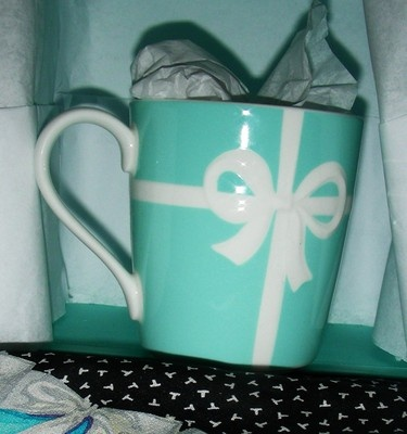I know someone who would find this fun! Tiffany and Co. Coffee mug