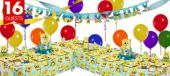 SpongeBob Party Supplies Deluxe Party Kit - Boys Party Themes - Boys Birthday - Birthday Party Supplies - Categories - Party City