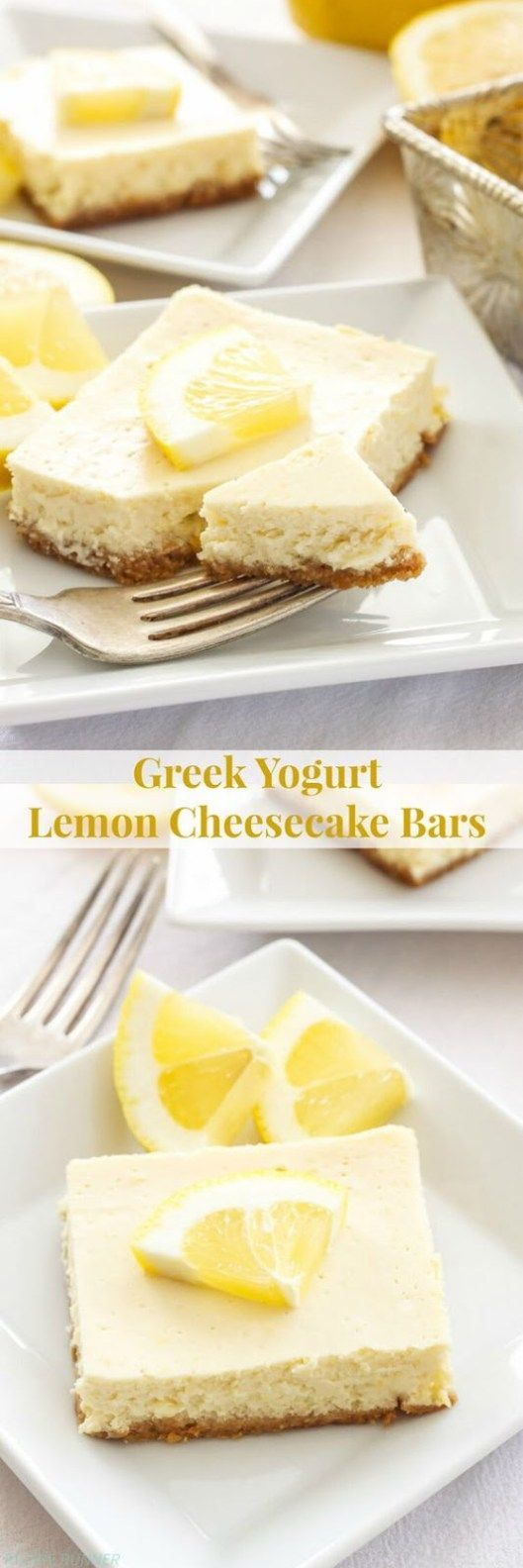 Greek Yogurt Lemon Cheesecake Bars Recipe – Girls Dishes