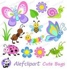 Imágenes Prediseñadas Linda Bugs colorante de por Alefclipart