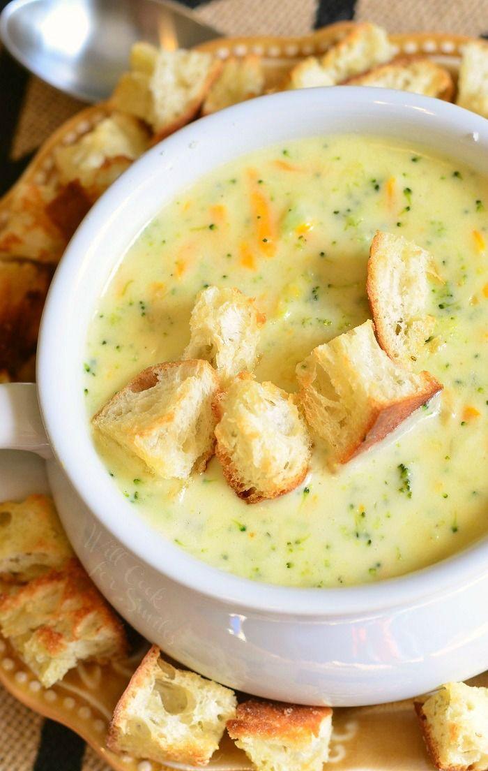 Asiago Broccoli Cheese Soup | from willcookforsmiles.com
