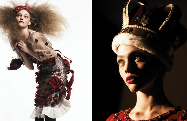 Numéro 69, January 2006 Model: Sasha Pivovarova Photographer: Greg Kadel