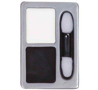 Fond de teint blanc et noir: Ce kit Halloween contient un fard blanc et un fard noir ainsi quun pinceau applicateur. Ce fond de teint est…