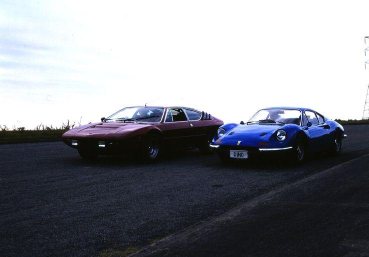 Lamborghini Uracco and Ferrari Dino