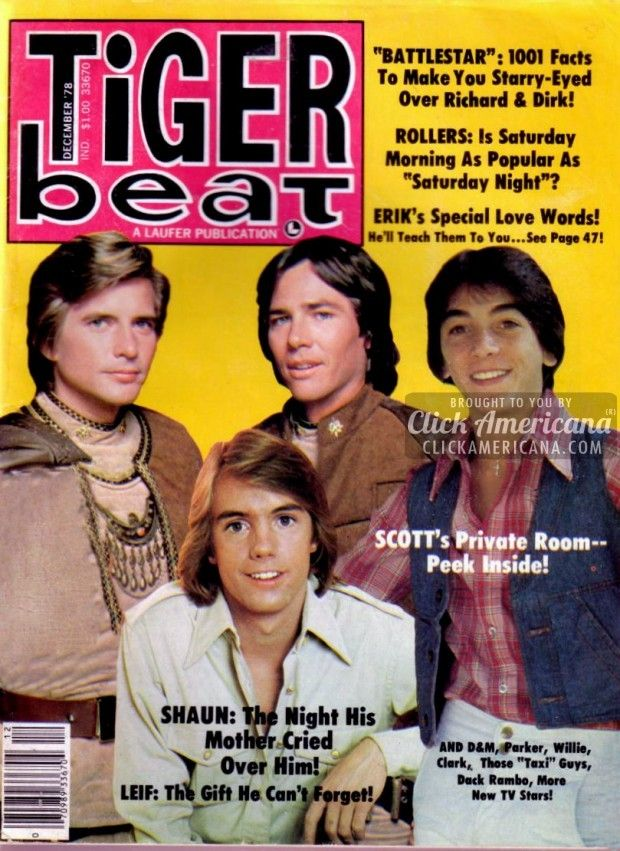 Tiger Beat magazine covers from the 1970s.  There was a penpal section in the back.  You could write letters to other girls from around the country and be penpals.