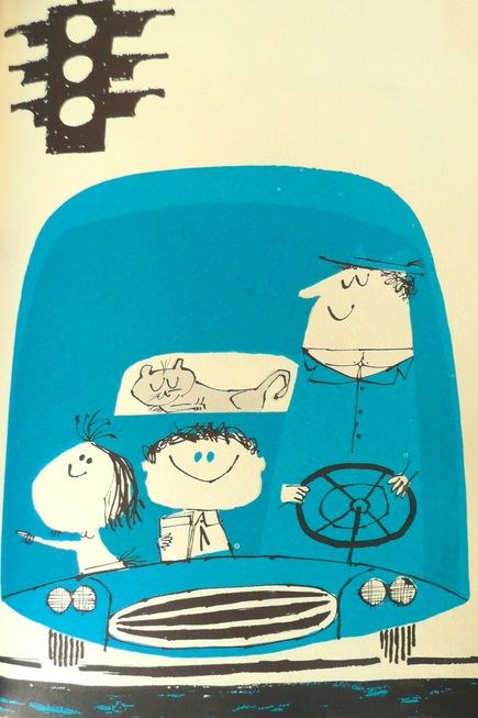 The Daddy Days - written by Norma Simon illustrated by Abner Graboff ✭ vintage kids illustration graphic inspiration