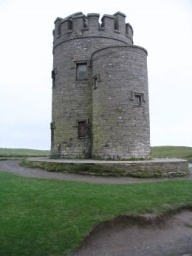 O' Brien's Tower next to the Cliffs of Mohar