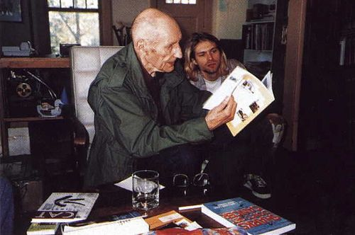 William S Burroughs reading to Kurt Cobain. Kurt, pay attention.