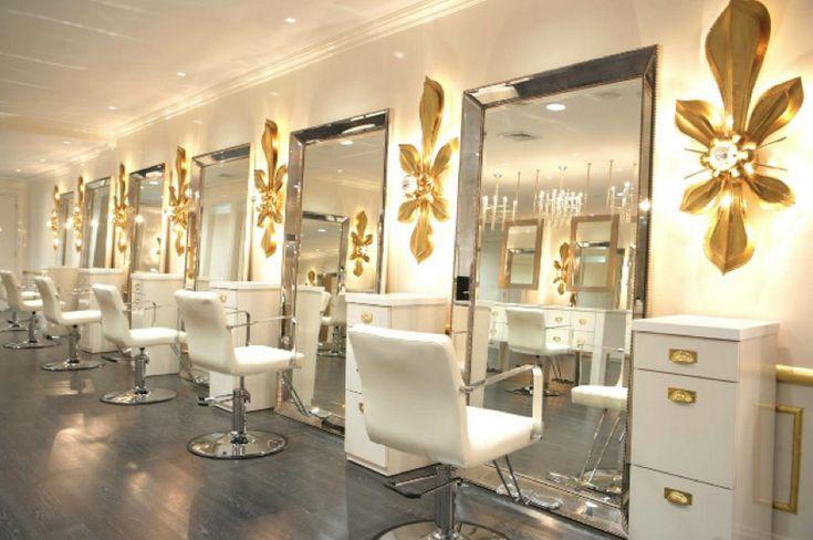 Decorating Luxury Hair Salon Design Lighting With Duke White