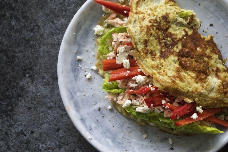 Opskrift: Nem omelet med laks