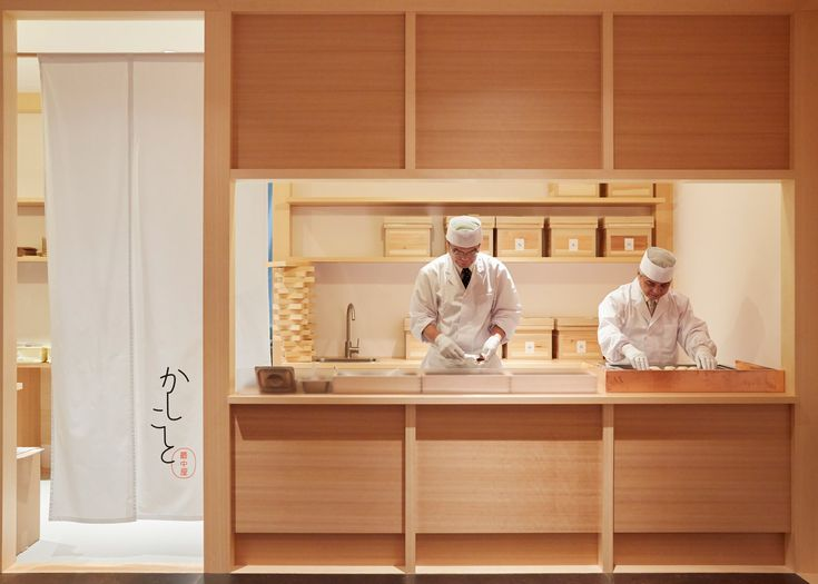 This Japanese sweet shop prepares and serves only one type of sugary treat.