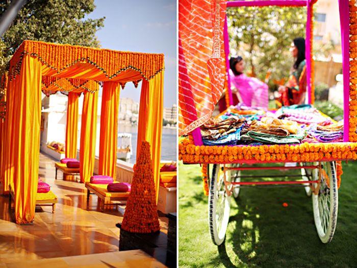 A Bright & Colorful Udaipur Wedding via The Society