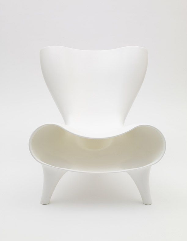 Orgone Chair, 1998 by Marc Newson (plastic). Having designed a number of chairs, it is clear to see that Newsons aesthetic is clean and sophisticated, although varied in the forms and materials he uses.