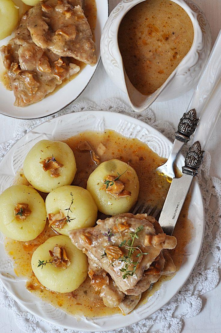 Bitki wieprzowe w sosie kurkowym