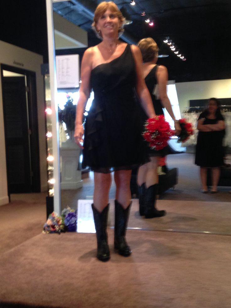 The bridesmaids' attire