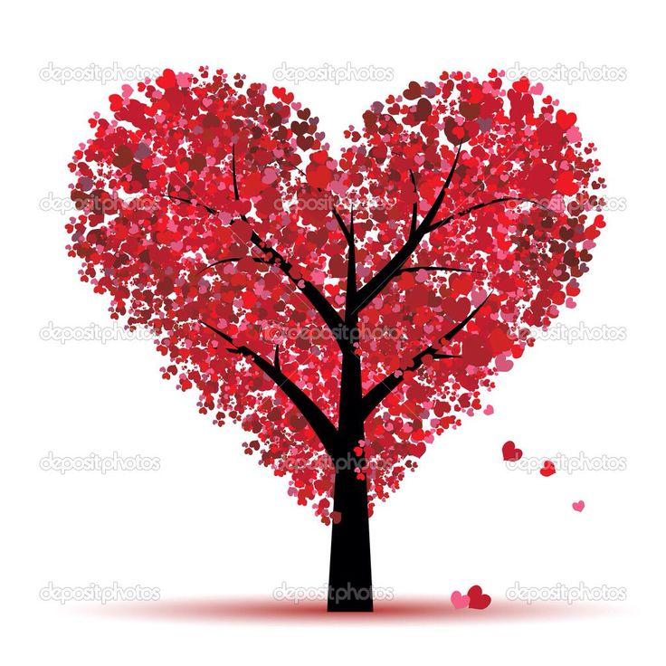 Valentijnsdag vette mooie boom
