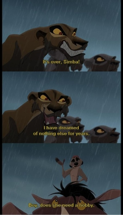 From Disney's The Lion King II: Simba's Pride. One of the few truly good Disney sequels.