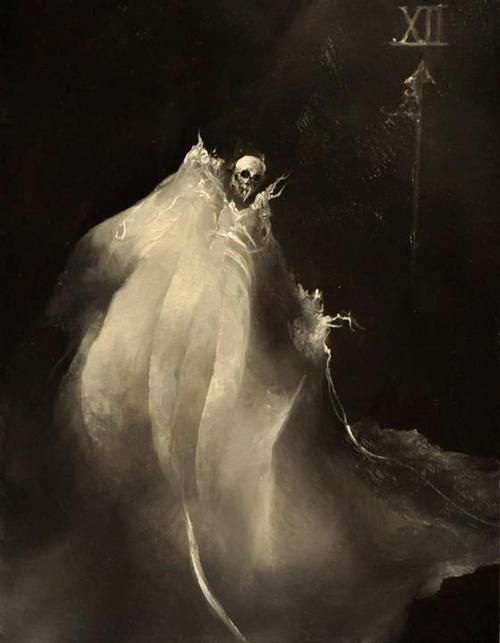 """Anne Bachelier illustration. From """"13 plus 1 by Edgar Allen Poe""""     An anthology of Poe's Short Stories and Poetry"""
