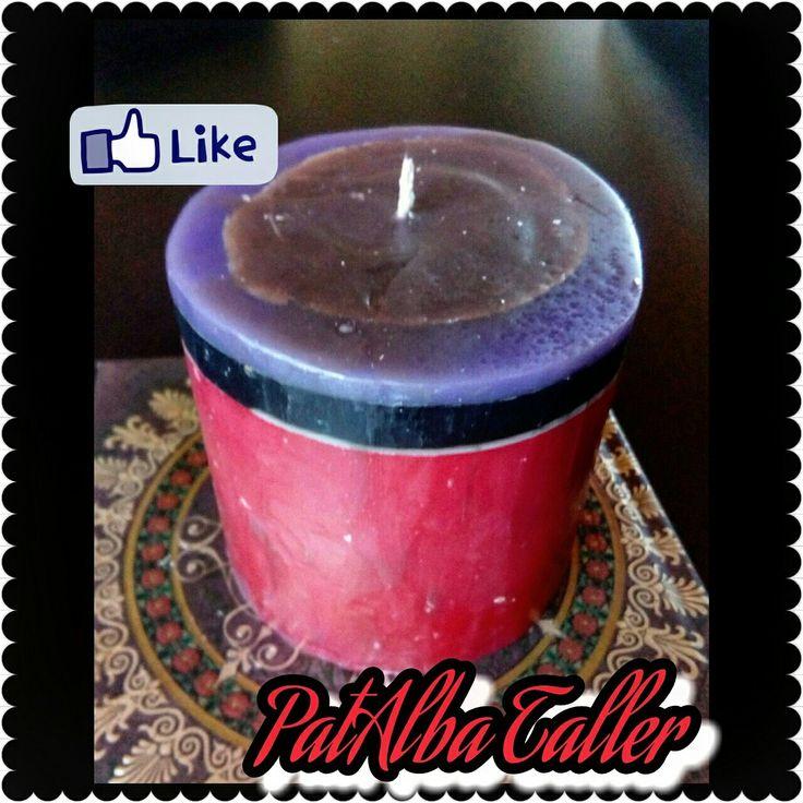Vela rústica aromática ❤ #patalbataller #diseñoindependiente #diseñodeautor #emprendedora #artesana #velas #energías #luz #aromaterapia #handmade #hechoconcariño