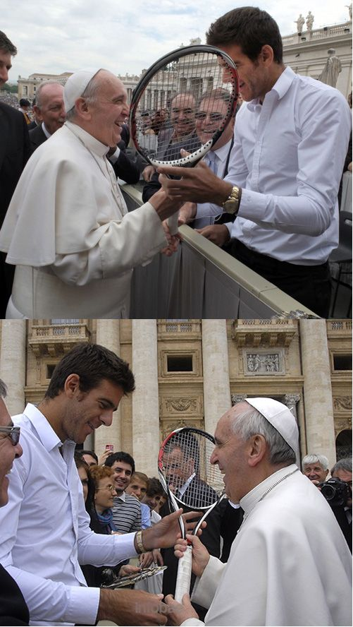 May 2013, Rome. Tennis player Juan Martin #Del #Potro presented to the Pope a…