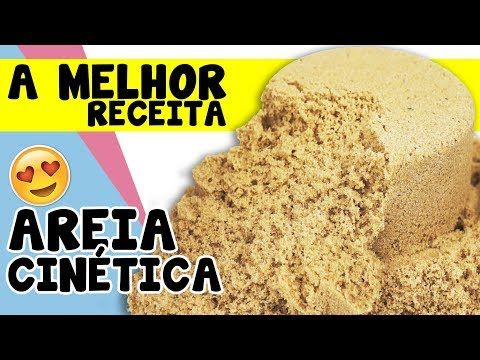 Como Fazer Areia Cinetica Caseira Areia Magica Facil Kinetic Sand