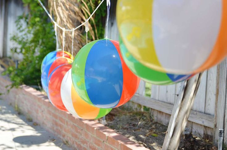Beach ball Birthday Party Ideas | Photo 2 of 45 | Catch My Party - I already have the beach balls from Oriental Trading
