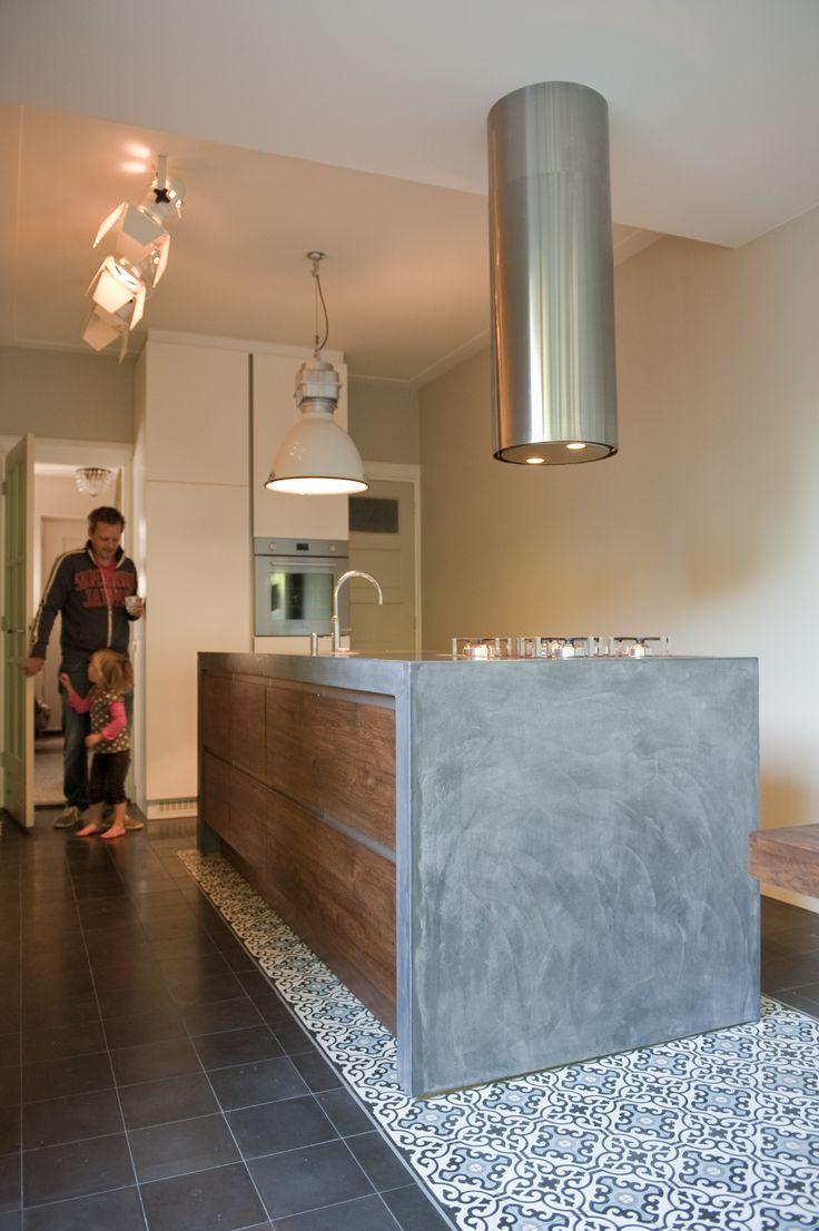 Keuken, VERBAU-betonstuc in kleur op maat.