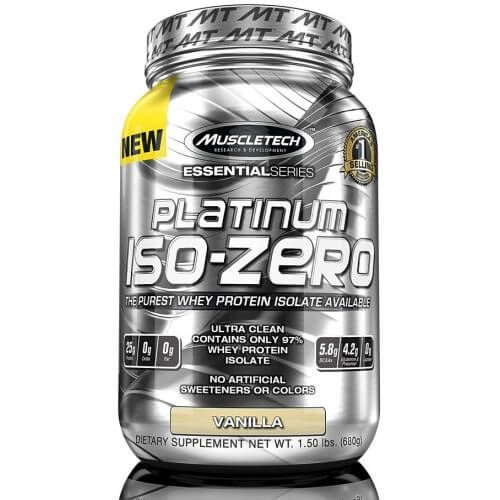 MuscleTech PLATINUM ISO-ZERO is the purest whey protein isolate formula ever from MuscleTech®. Powered by only 97% pure whey protein isolate,