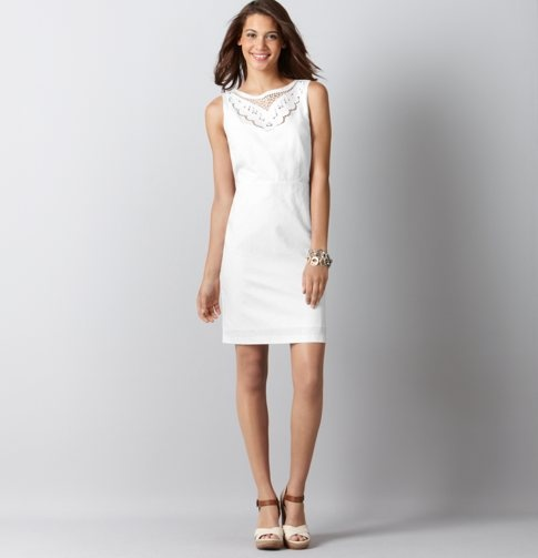 Linen/Cotton Embroidered Drape Back Shift Dress #Whitedress #Initiation #SigmaKappa: Linens Cotton Embroidered, Dresses Whitedress, Shift Dresses, Loft Dresses, Bridal Shower, Linencotton Embroidered, Linens Dresses, White Dresses, Embroidered Draping
