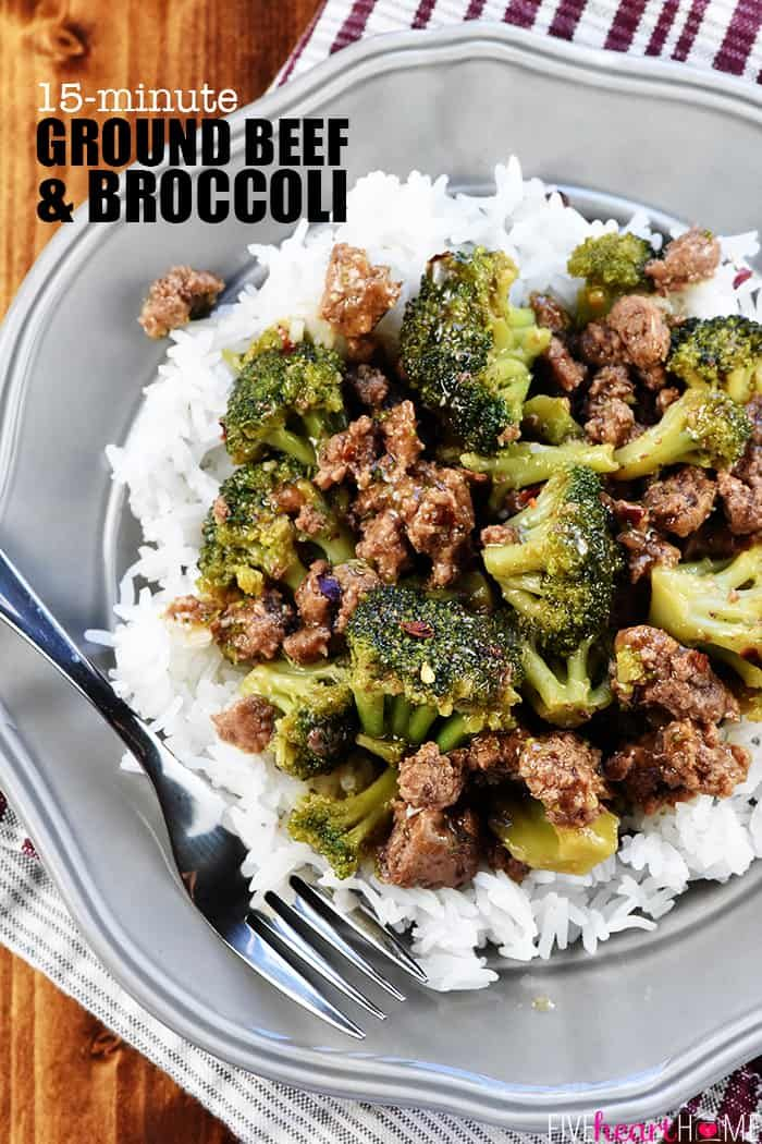 Ground Beef And Broccoli A Healthy Quick And Easy Skillet Recipe That Comes To Dinner With Ground Beef Ground Beef Recipes Easy Ground Beef Recipes Healthy