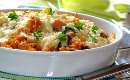 Spinach, Butternut and Feta Lasagne recipe