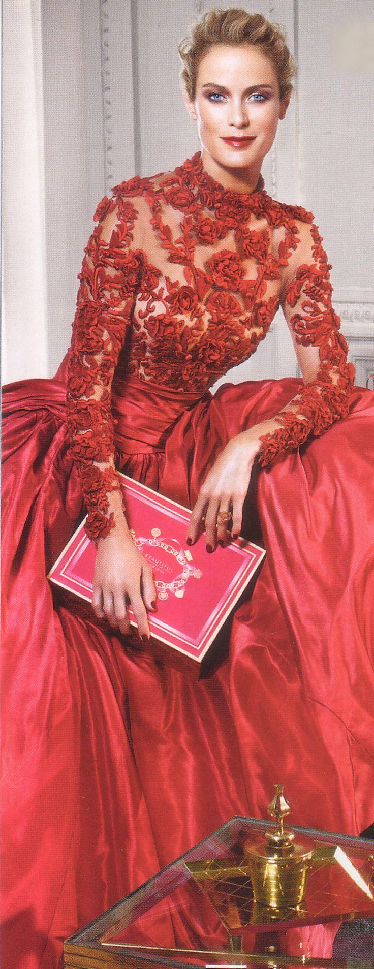 Glamour gowns / karen cox.  Estée Lauder -