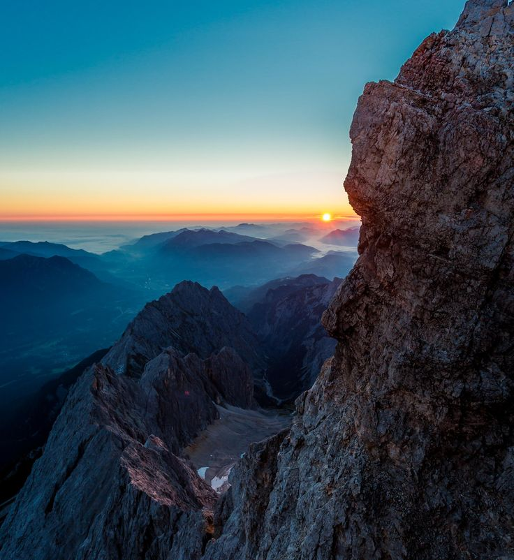 zugspitze germany sunrise