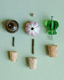Decorative bottle stopper.  How pretty.  Great idea for up-cycled bottle projects.