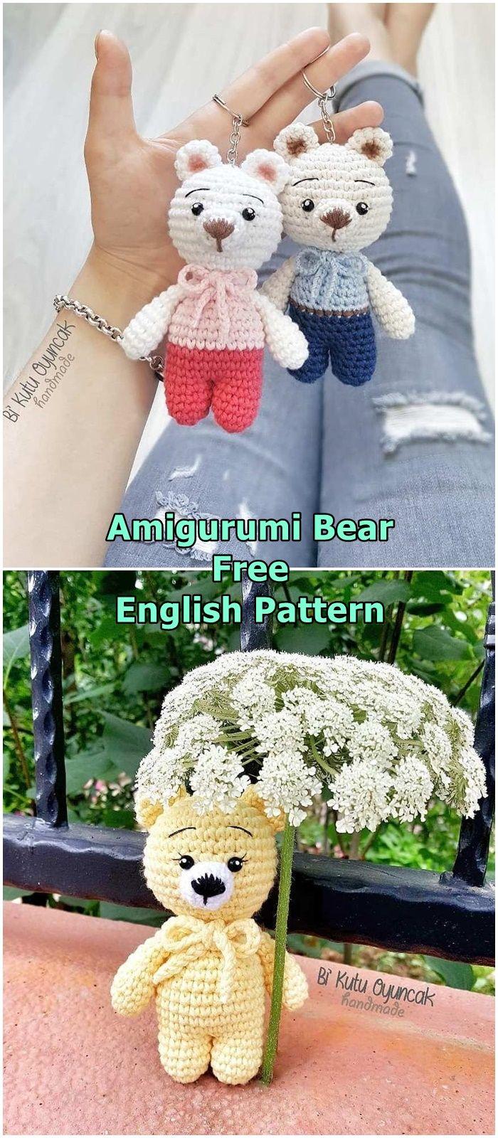 Patron de porte-clés en crochet gratuit - Simplement Bear ... | 1600x700