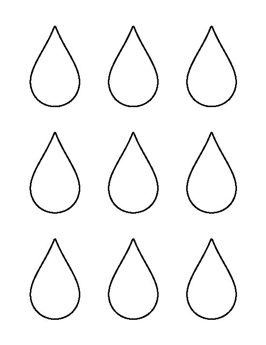 small raindrop pattern use the printable outline for