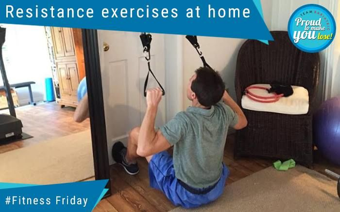 Resistance exercises at home (Resistance band) Resistance Training' is another name for exercising your muscles using an opposing force called resistance bands. Resistance exercise is any form of exercise that forces your skeletal muscles (not the involuntary muscles of your heart, lungs, etc.) to contract.  #DrAtulPeters #TeamBariatric #FitnessFriday