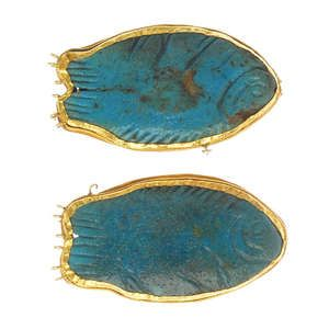 LOT:45 | Two Ancient Egyptian jewellery components.