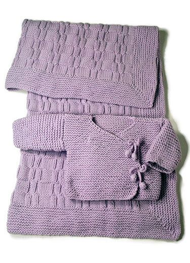 Easy As Pie Baby Layette ... love this set, it would be nice to make up in a neutral colour to have on hand...complimentary pattern from Berroco!