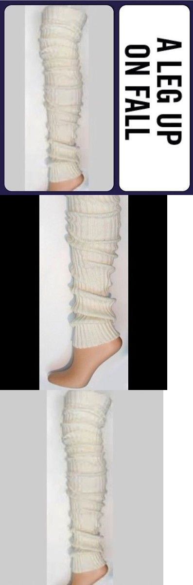 Leg Warmers 163587: Thigh High Long Leg Warmers Over Knee Ivory Off White Warm Thick Cable Knit 39 -> BUY IT NOW ONLY: $31.99 on eBay!
