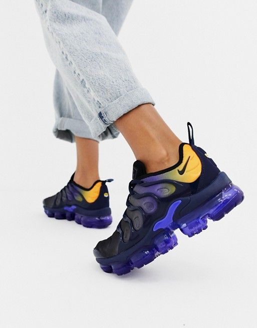 huge discount 08afd 957fd Nike Blue And Yellow Air Vapormax Plus Trainers | Fashion ...