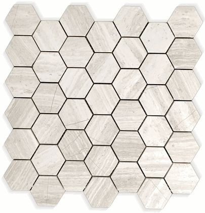 Athens Silver Cream Marble Limestone Hexagon Mosaic Tile Available Online From The Builder Depot