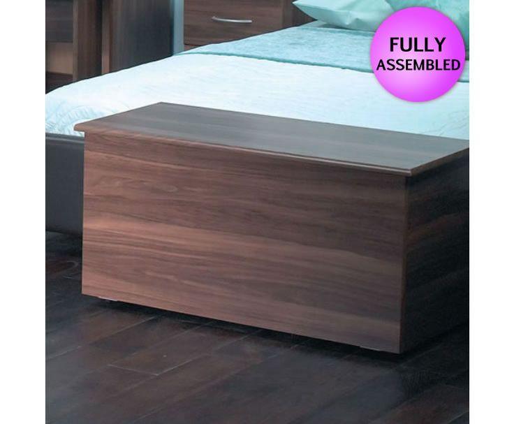 Tara Walnut Wooden Blanket Box