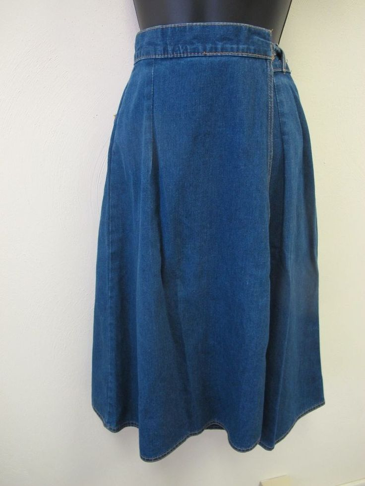 Rare Vintage Levi Strauss & Co Tie Back Denim Wrap Skirt Women's Small #Levis #WrapSarong