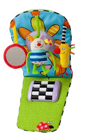 Interaktywny panel samochodowy dla dzieci podróżujących tyłem do kierunku jazdy. Sympatyczna, kolorowa zabawka wykonana z miękkiego materiału. Taf Toys