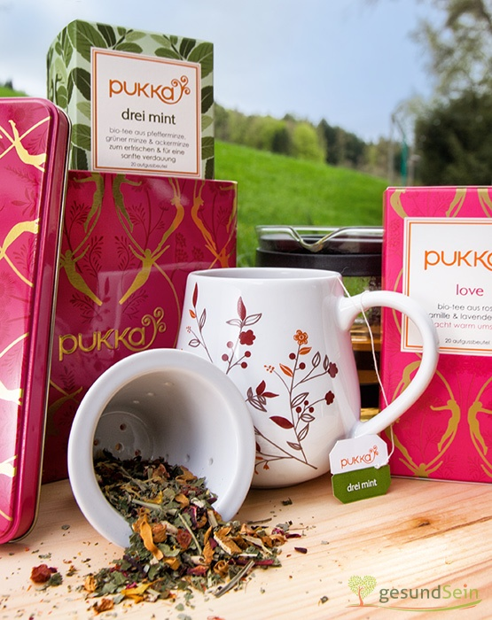 "Close-Up of #Pukka #Tea Box ""Love Tin"". A special present for all tea-lovers :-) Comes with Pukka #Love Tea and Pukka Three Mints. If you haven´t tasted those herbal teas yet - do not hesitate and get some :-)"
