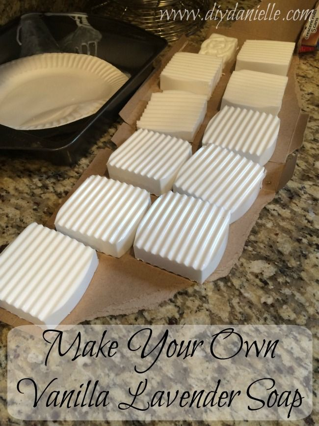 How to make your own vanilla lavender soap easily and safely.