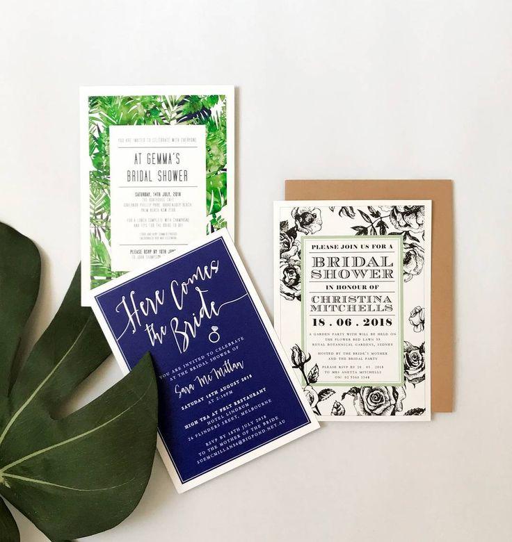 So many bridal shower invitations to choose from!  http://candlebarkweddings.com.au/pre-wedding-events/bridal-shower-invitations.html