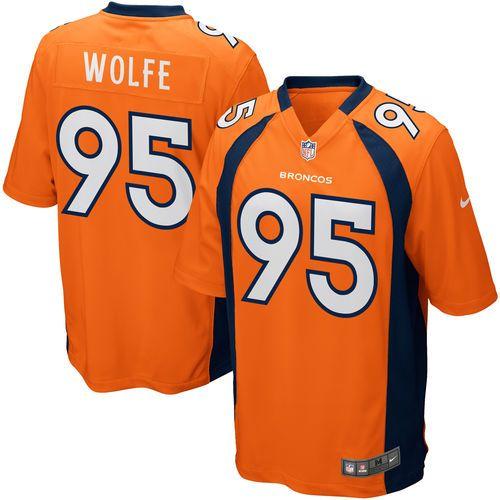 Mens Denver Broncos Derek Wolfe Nike Orange Game Jersey - Official Denver Broncos Shop
