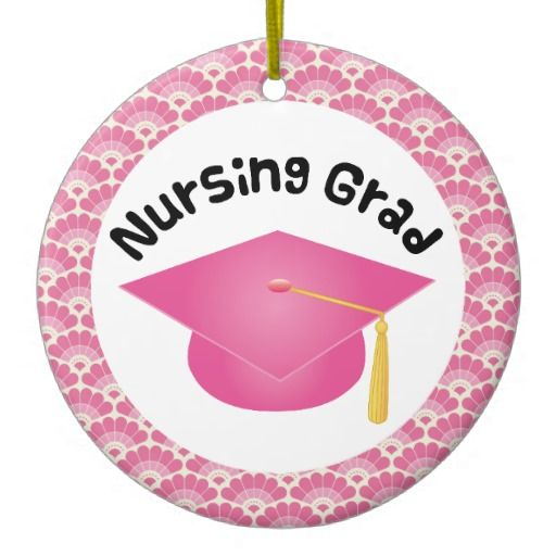 Nursing Graduate Pink Gift Ornament Grad Has Pretty Hat Design It Makes A Great Christmas Idea Or Graduation For